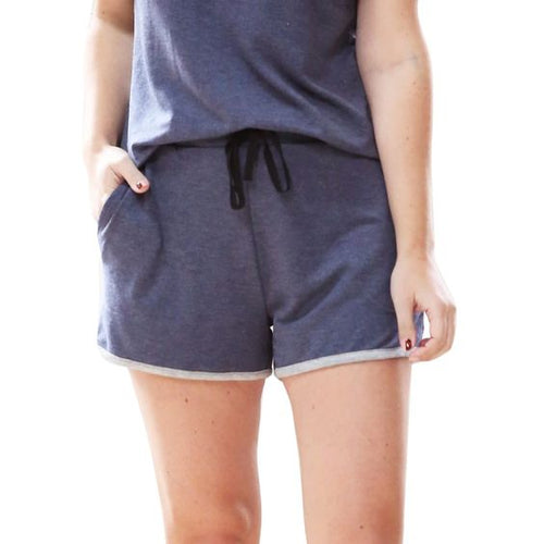 NAVY WEEKENDER SHORTS - FrouFrou Couture