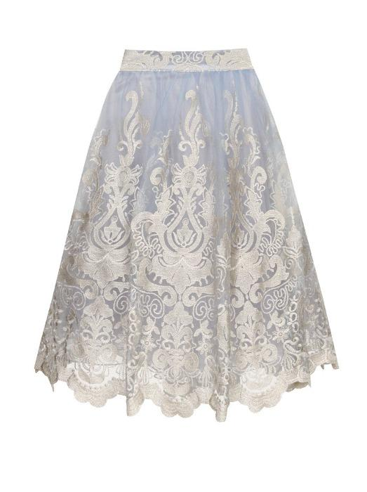 BAROQUE STYLE MIDI SKIRT - Chi Chi London
