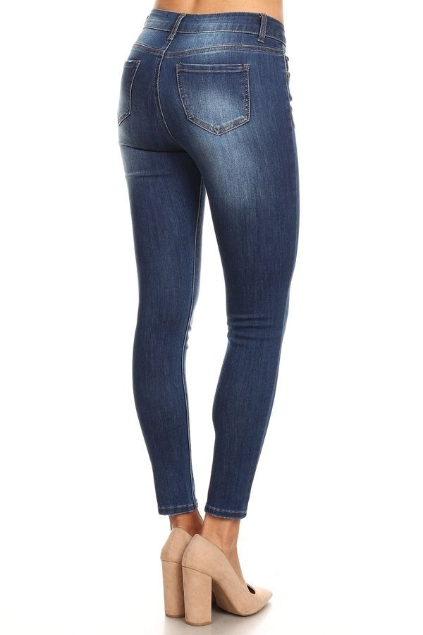 Mid-High Rise Ankle Skinny Enjeans - Med - FrouFrou Couture