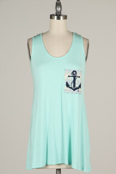 Anchor Pocket Tank - FrouFrou Couture