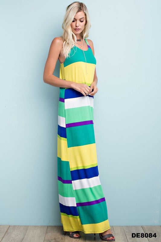 Extra Long Colorful Racerback Maxi - FrouFrou Couture