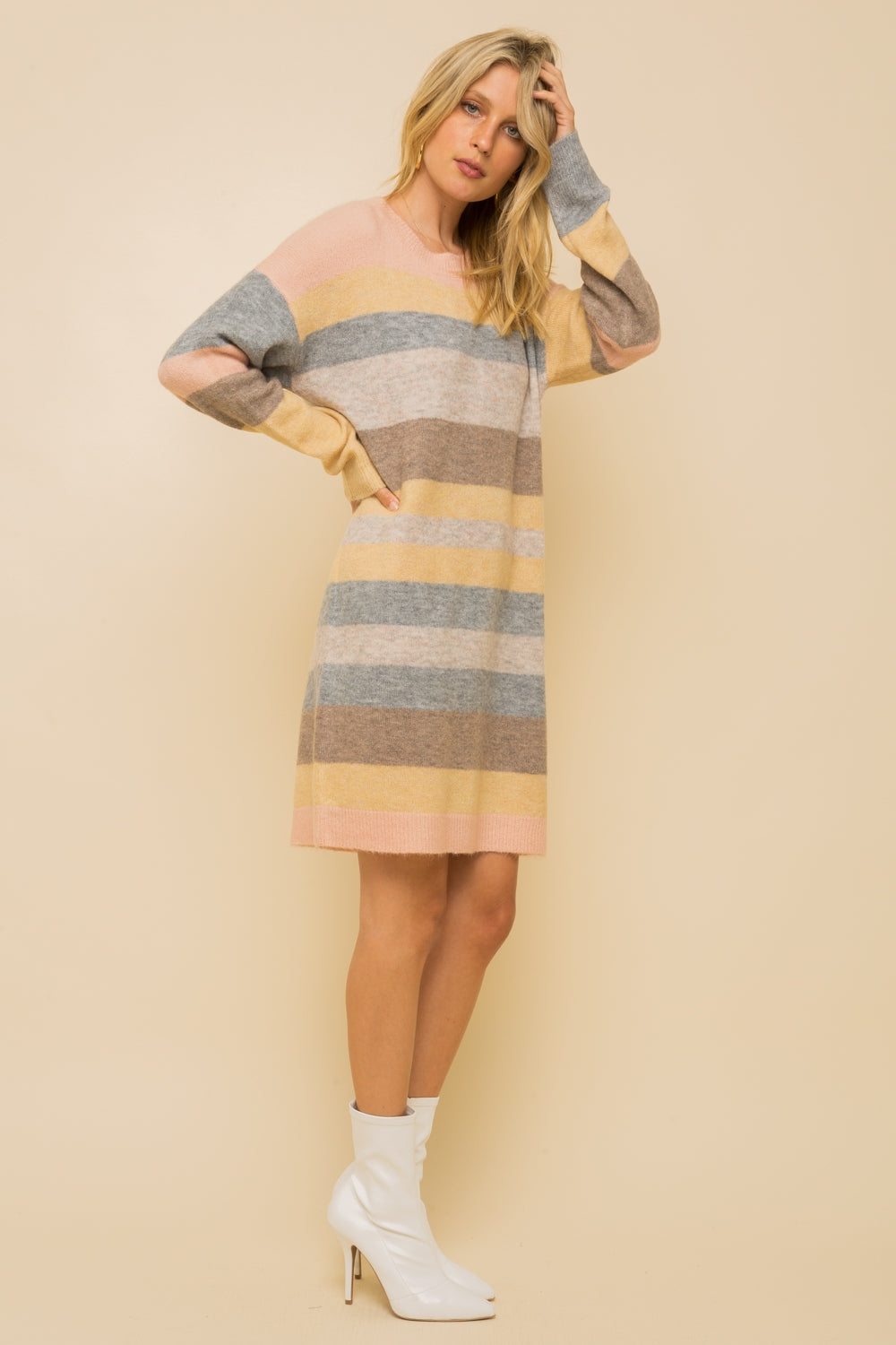 Melange Sweater Dress - FrouFrou Couture
