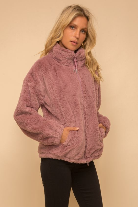 Faux Fur Oversize Jacket with Swarovski Crystal - FrouFrou Couture