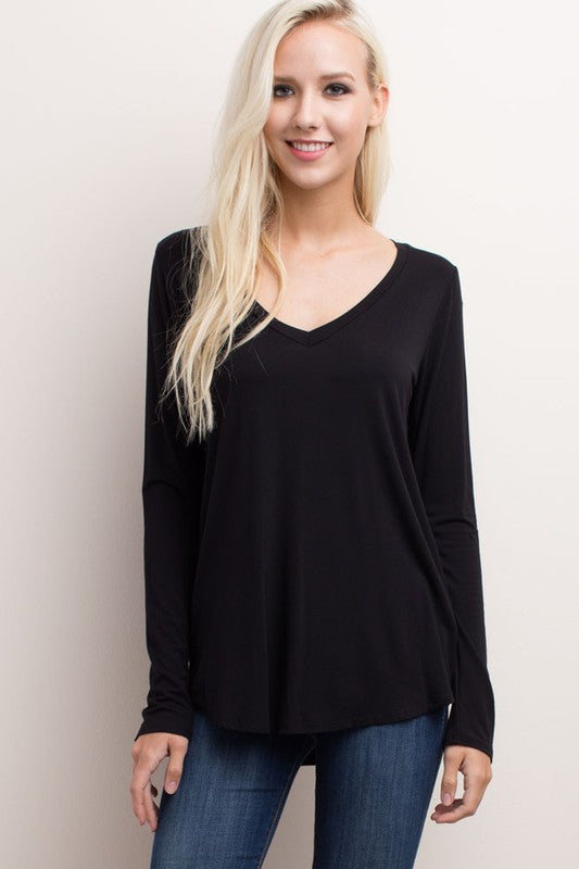 Bamboo V-Neck Top - FrouFrou Couture