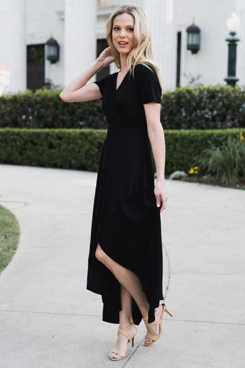 Solid Black Maxi Dress