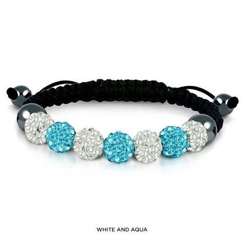 Austrian Crystal Bracelet in Genuine Leather - FrouFrou Couture