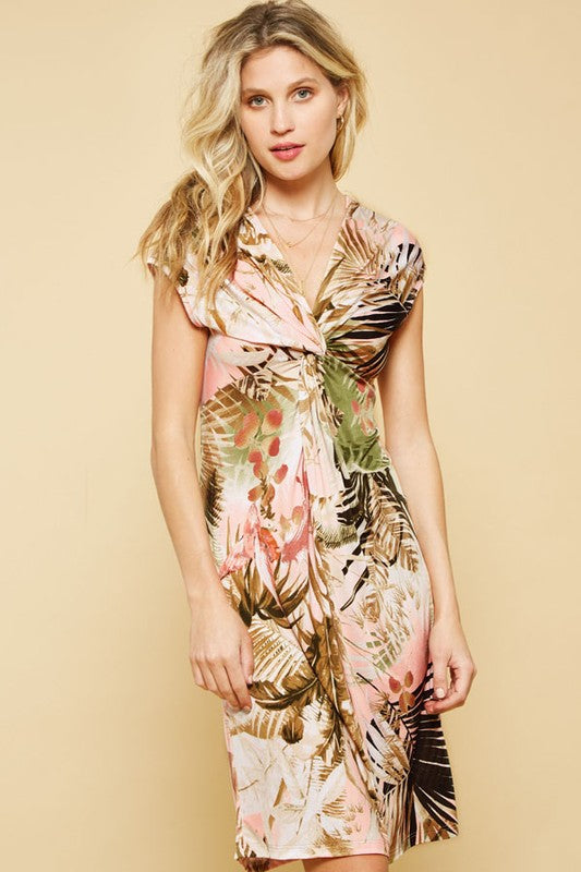 Tropical Knit Dress