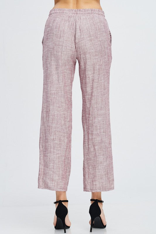 Hamptons Linen Lounge Pants - size small - FrouFrou Couture