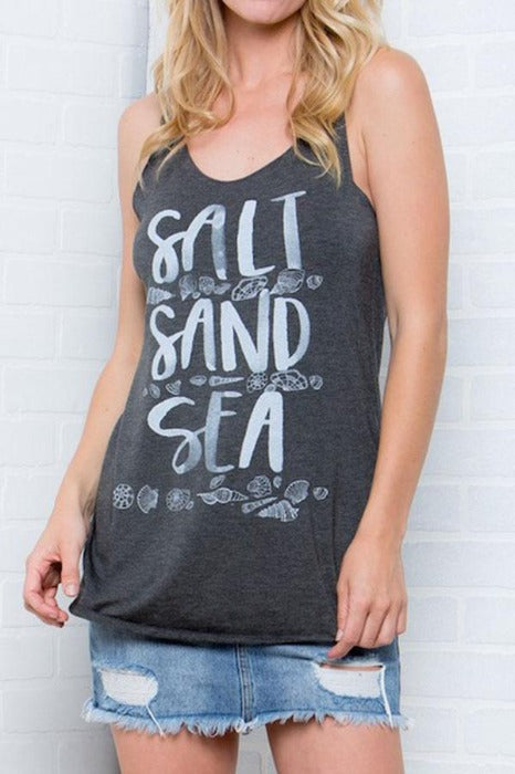 Salt Sand and Sea Tank - FrouFrou Couture