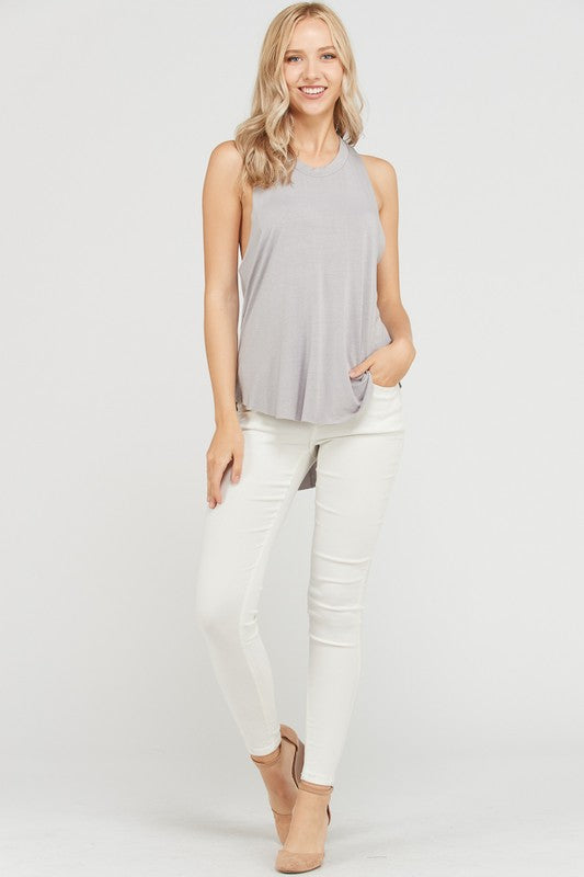 Raw Edge Racer Distressed Tank - FrouFrou Couture