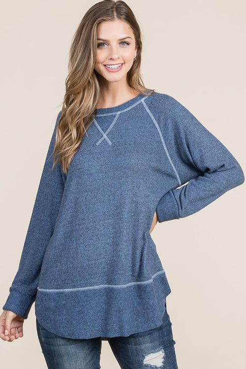 Super Soft Double Layered Knit Tunic - HD415 - FrouFrou Couture