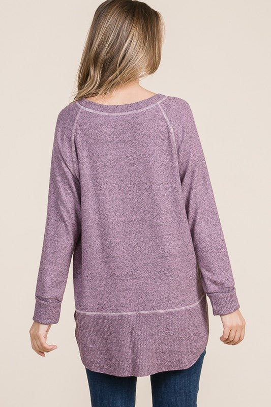 Super Soft Double Layered Knit Tunic - HD415