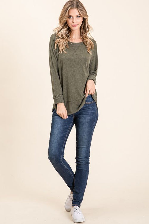 Olive Pullover Sweater - HD110