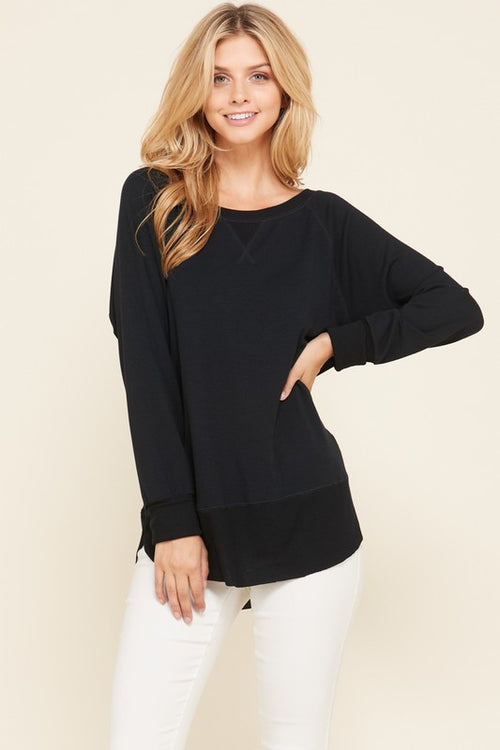 Black Pullover Sweater - HD110 - FrouFrou Couture
