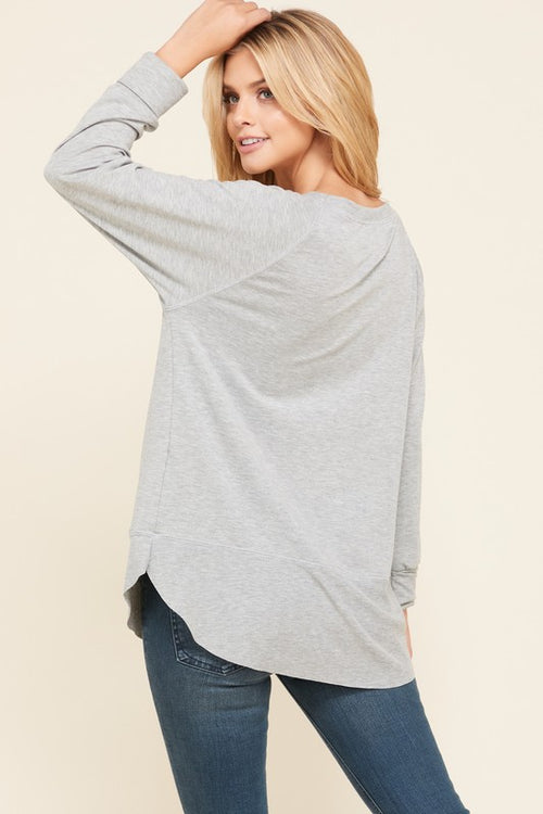 Grey Pullover Sweater - HD110 - FrouFrou Couture