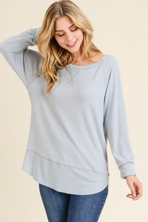 Cool Grey Pullover Sweater