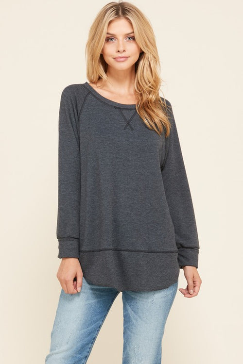 Charcoal Pullover Sweater - HD110 - FrouFrou Couture