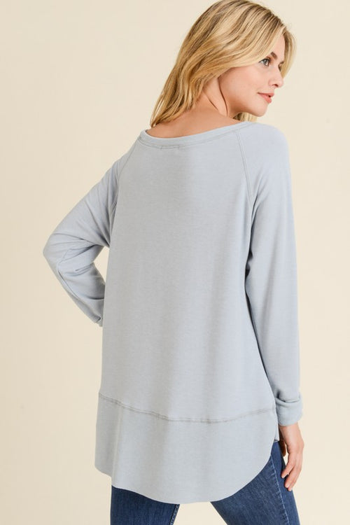 Cool Grey Pullover Sweater - HD110 - FrouFrou Couture