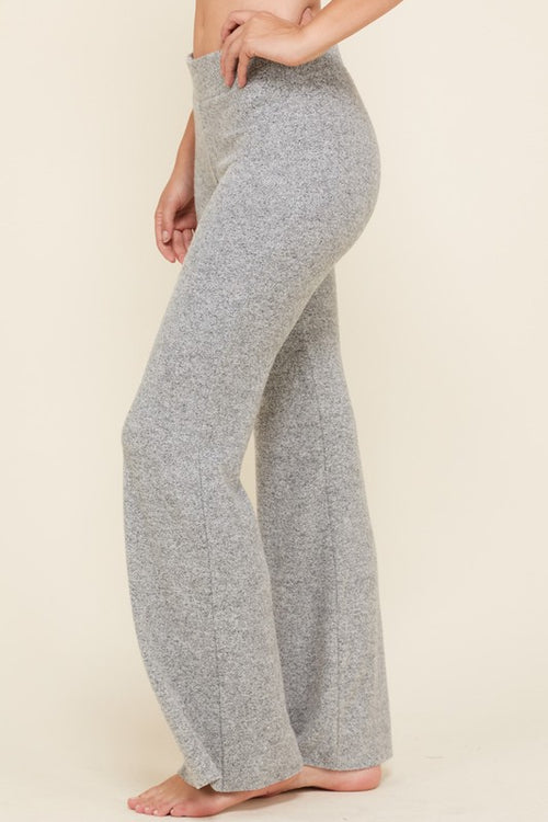 Gray Lounge Flare Pants