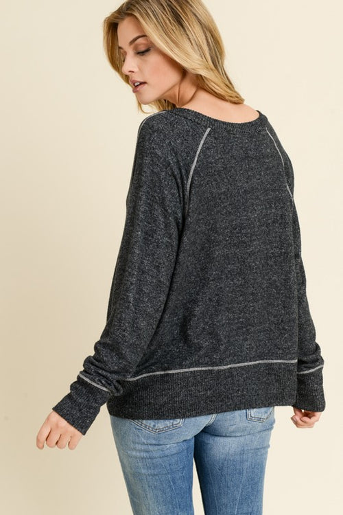 Ultra Soft V Neck Long Sleeve Sweater