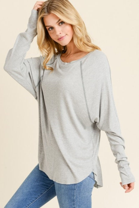 Hi Low Stitch Detail Top