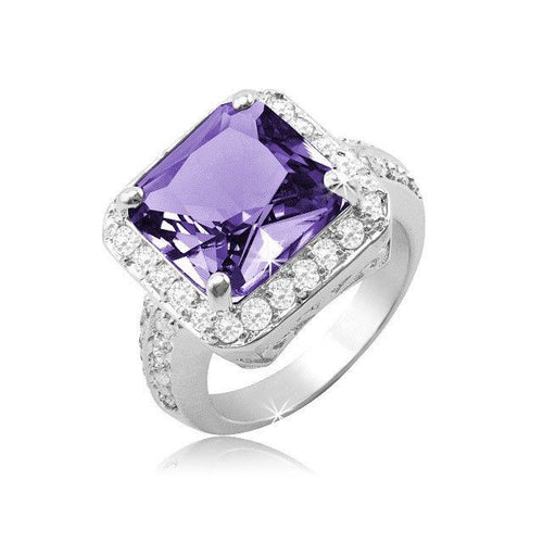 Princess-Cut Clarissa Cocktail Ring - FrouFrou Couture