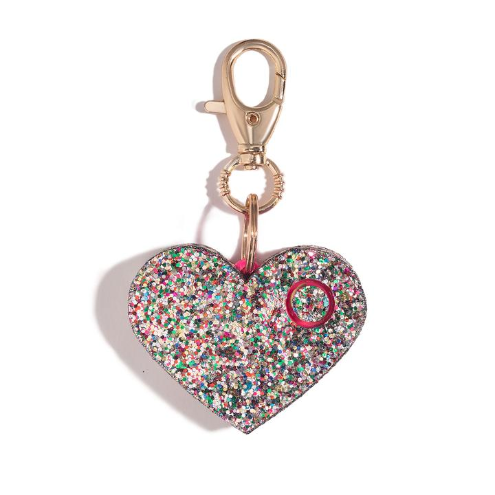 Heart Rhinestone Personal Alarm with LED - FrouFrou Couture