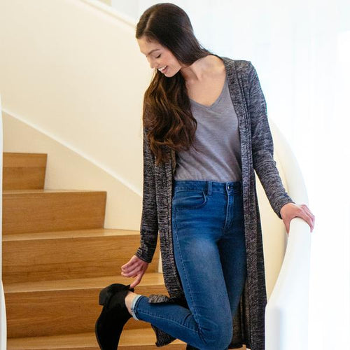 Carefree Threads Long Black Cardigan