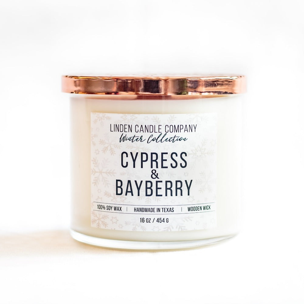 Cypress & Bayberry 16oz Seasonal Soy Candle - FrouFrou Couture