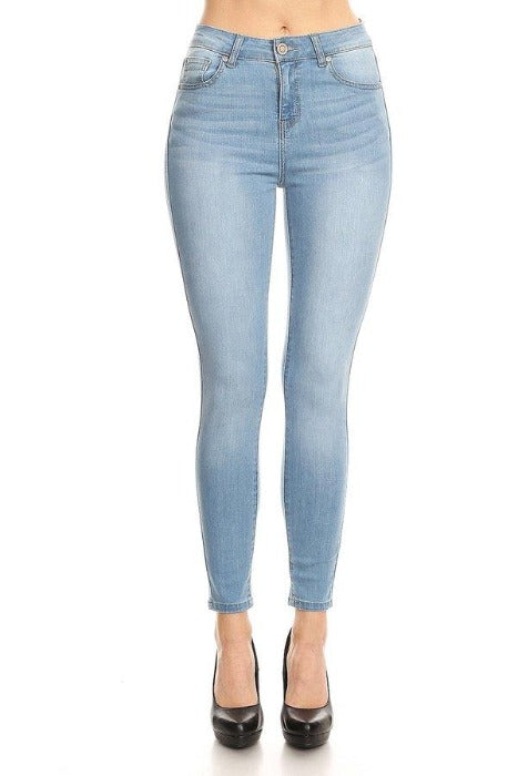 Classic High Waisted Ankle Cropped Skinny Jeans