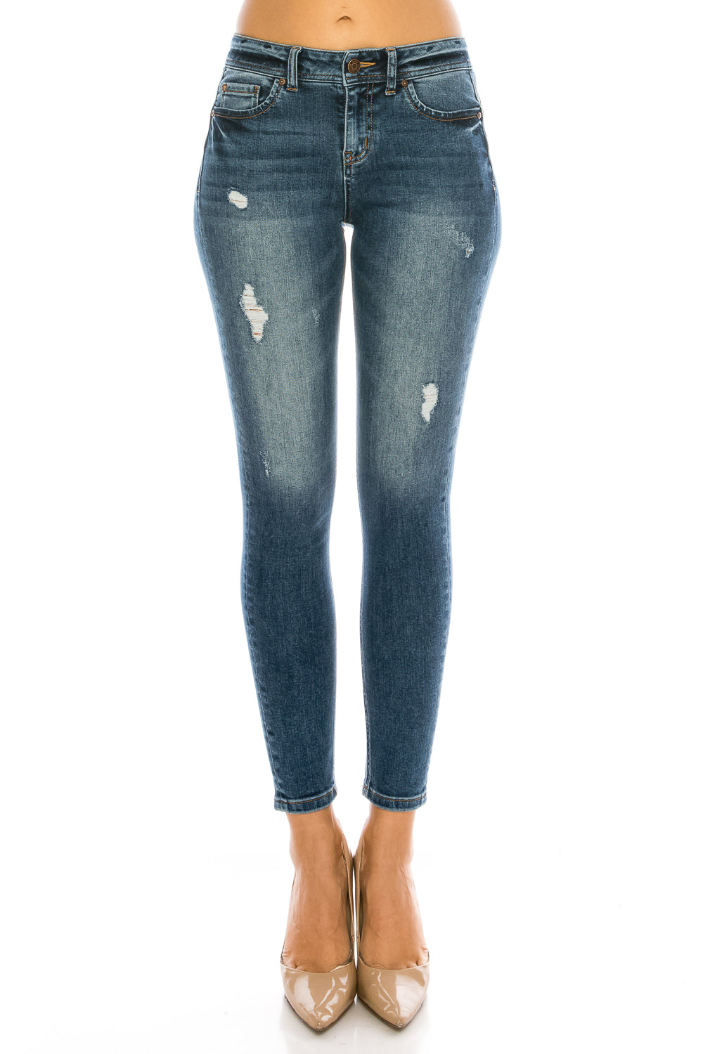 Mid Rise Push Up Ankle Skinny Jeans - EP3128