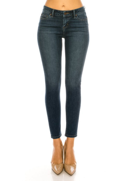 Mid-Rise Push-Up Skinny Jeans - EP3129 - FrouFrou Couture