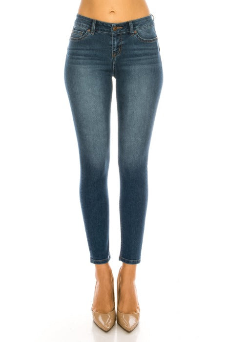 Mid-Rise Push-Up Skinny Jeans - EP3129