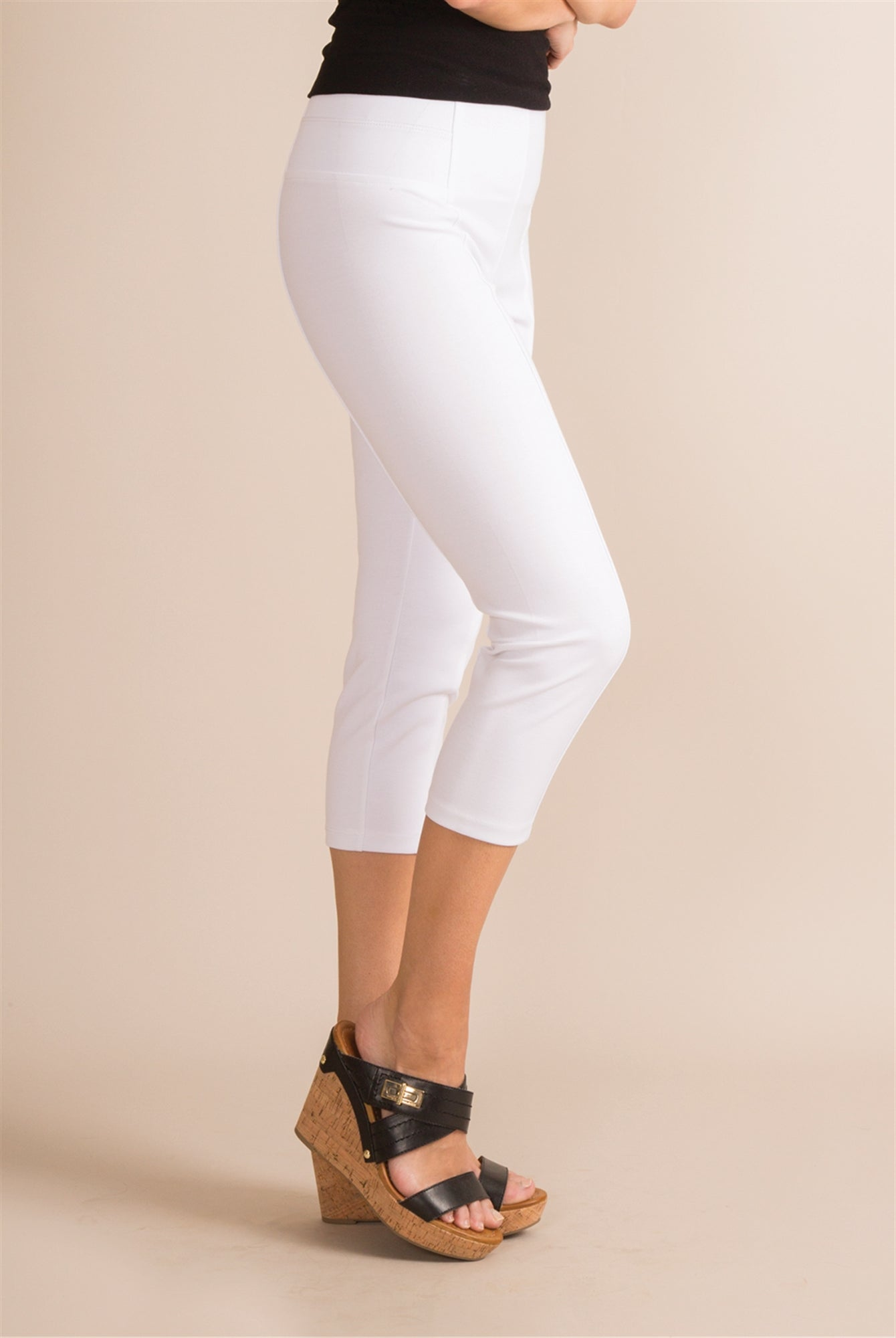 Ponte Cropped White Pant - FrouFrou Couture