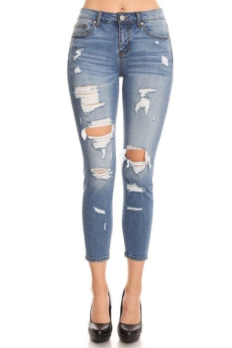 Destroyed Skinny Jeans - FrouFrou Couture