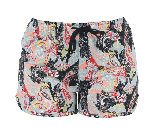 Midnight Paisley Lounge Shorts - FrouFrou Couture