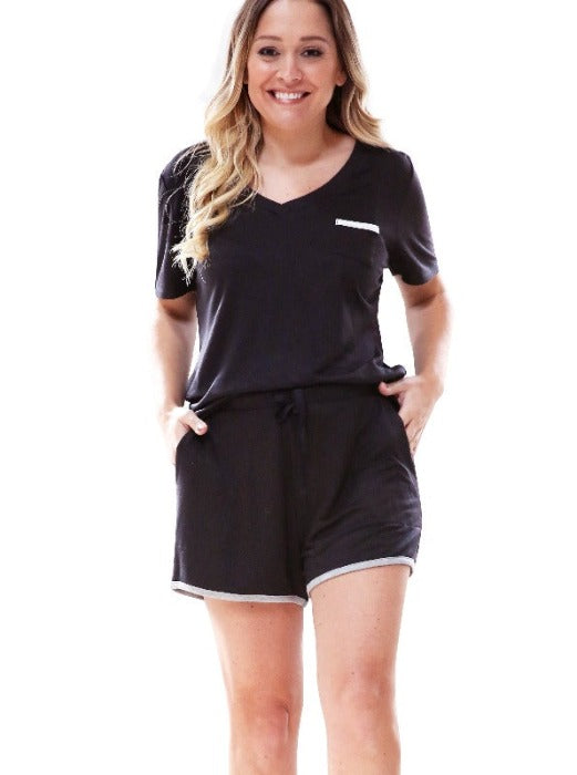 BLACK WEEKENDER SHORTS - FrouFrou Couture