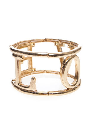Stretcy Love Cuff Bracelet - FrouFrou Couture