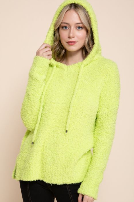 Fuzzy Fur Hoodie Sweater - FrouFrou Couture