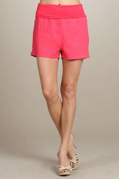 Linen Fold-Over Shorts - FrouFrou Couture