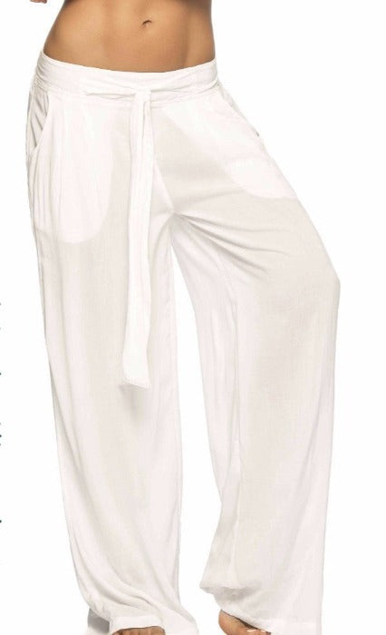 Turkana White Beach Wear Pants
