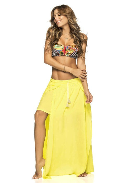 Phax Resort Wear Yellow Maxi Skirt