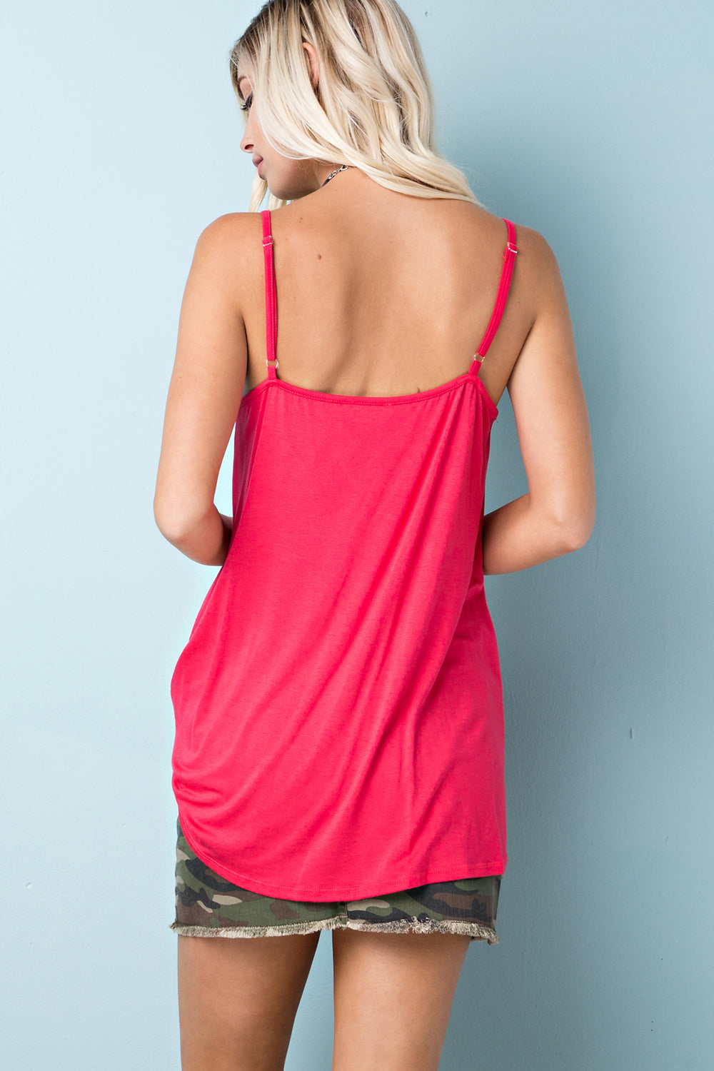 Adjustable Dark Coral Tank - FrouFrou Couture