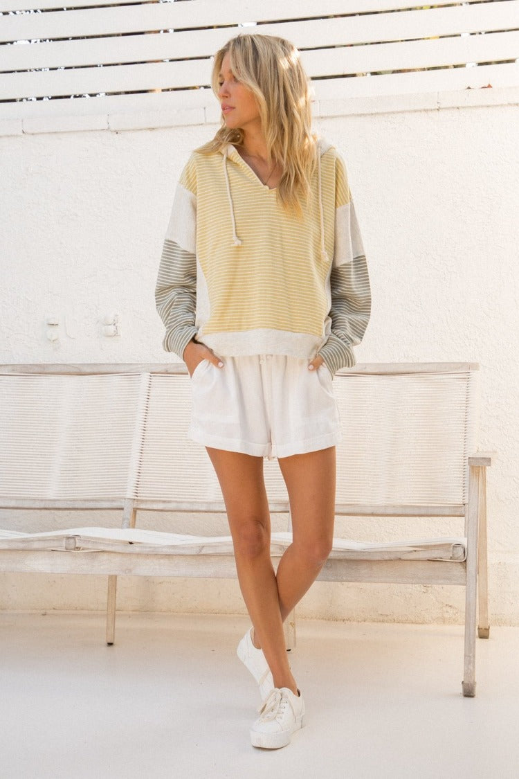 Soft Color Block Hoodie - FrouFrou Couture