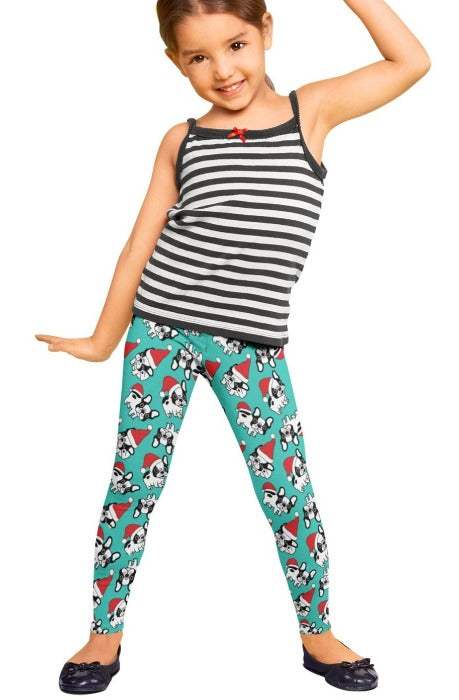 Santa Paws Kids Christmas Leggings - FrouFrou Couture