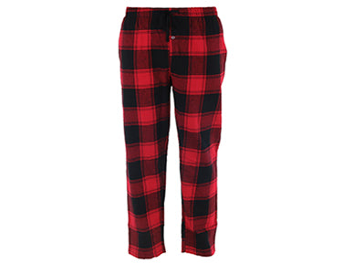 classic style, lightweight and breathable red plaid lounge pants.