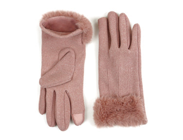 Socialite Fleece Gloves - Blush - FrouFrou Couture