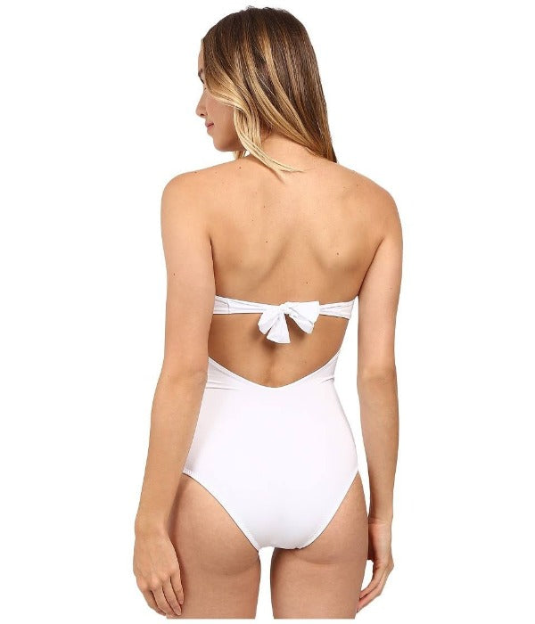Twisted Strapless One-Piece