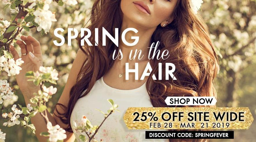 Spring is in the hair! Save 25% on your ENTIRE order from now until the first day of spring!