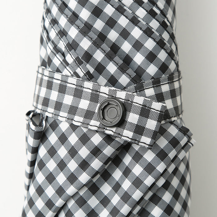 TWO WAY COLLAPSIBLE UMBRELLA 53CM GINGHAM CHECK